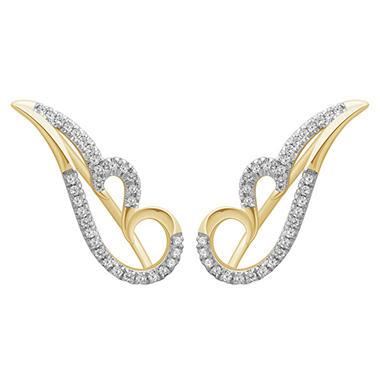 .20 ct. t.w. Diamond Ear Climbers in 14K Yellow Gold