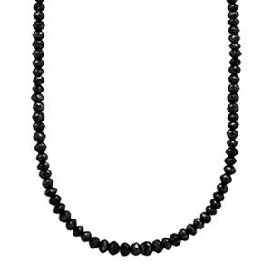 100 ct. t.w. Black Necklace in 14K White Gold