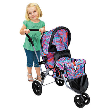 Twin Jogger Stroller - Purple
