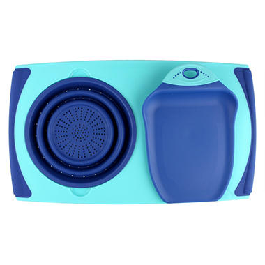 Over The Sink Board Chop & Scoop Set - Various Colors