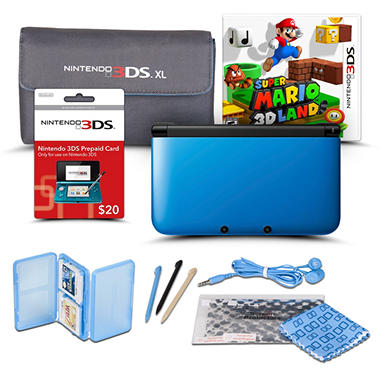 3DS XL Handheld Console Starter Bundle