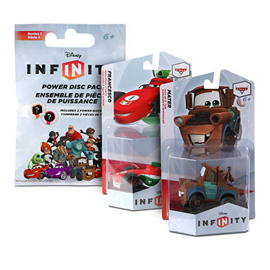 Disney Infinity 2 Figure Bundle with Bonus Power Disc Pack - Cars