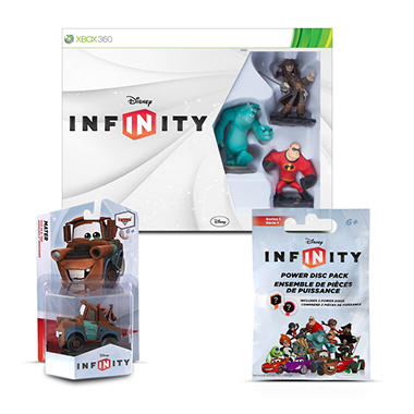 Disney Infinity Starter Kit Bundle w/ Bonus Single Figure and Power Disc Pack