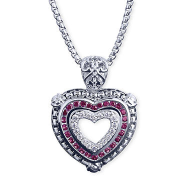 $50.00 off Diamond and Ruby Pendant or Ring