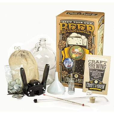 Craft-A-Brew Home Brewing Kit with Bonus Bottle Capper and Caps - Various Flavors