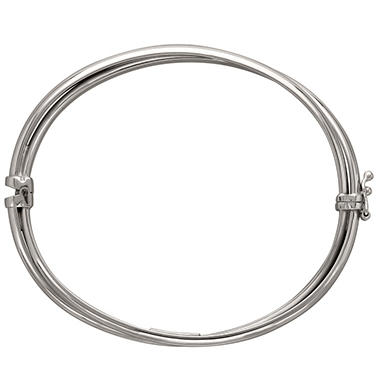 "7"" Double Band Oval Bangle in Sterling Silver"