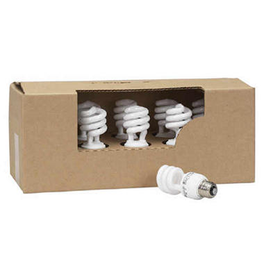 GE Compact Fluorescent Spiral - 13 Watt CFL Light Bulbs - 1 pallet / 1,680 bulbs