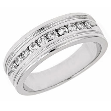 0.50 ct. t.w. Diamond Men's Band in 14K White Gold (H-I, I1)