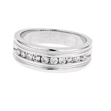 0.25 ct. t.w. Diamond Men's Band in 14K White Gold (H-I, I1)