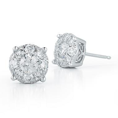 1.50 ct. t.w. Unity Diamond Stud Earrings in 14k White Gold (I, I1)