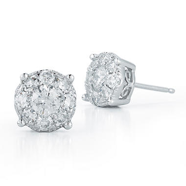 1.50 ct. t.w. Unity Diamond Stud Earrings in 14k White Gold (I, I1)