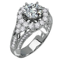 2.80 ct. t.w. Diamond Ring in 18k White Gold (H-I, SI2-SI1)