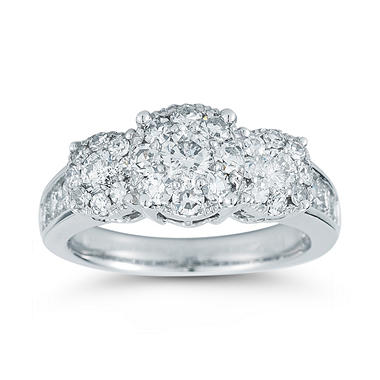 1.50 ct. t.w. Unity Diamond Engagement Ring in 14k White Gold (I, I1)