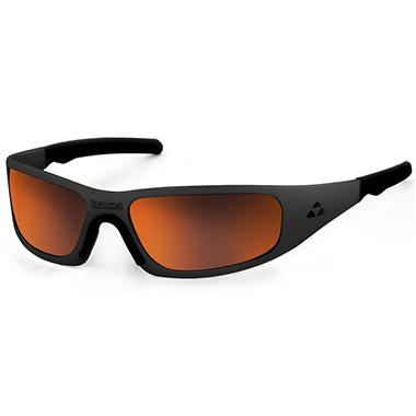 Gasket Matte Black Frame Sunglasses - Red Mirror Polarized Lens