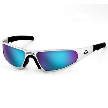 Player Polished Frame - Blue Mirror Polarized Lens