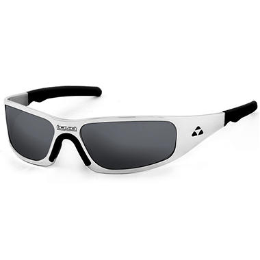 Gasket Polished Frame Sunglasses - Smoke Polarized Lens