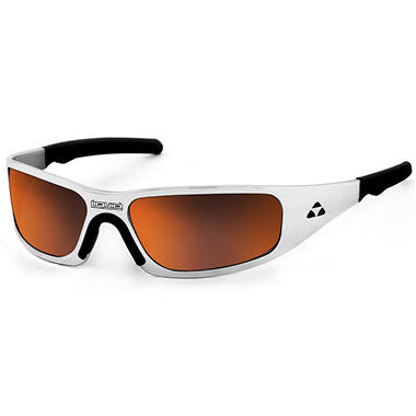 Gasket Polished Frame Sunglasses - Red Mirror Polarized Lens