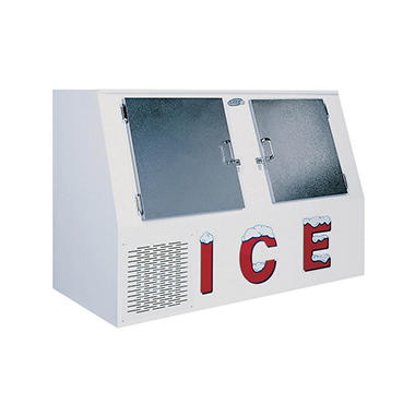 Leer 2-Door Low Profile Outdoor Ice Merchandiser - 46 cu. ft.