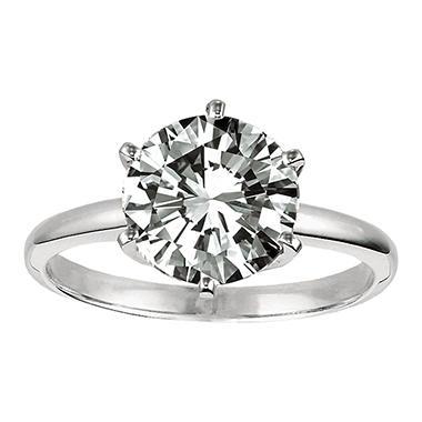 .31 ct. Diamond Solitaire Platinum Ring (E, VS2)