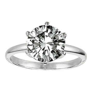0.31 ct. Diamond Solitaire Platinum Ring (H, VS1)