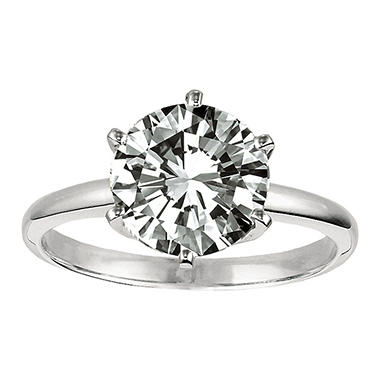 0.53 ct. Round Diamond Solitaire Ring in Platinum (E, VS2)