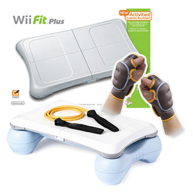Wii Fit Plus With Balance Board And Griffin Calorie Burn ...