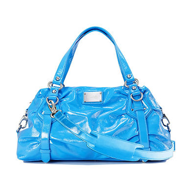 Orvieto by Estel Park Soliel Blue Leather Handbag