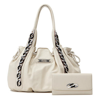Orvieto by Estel Park Bohemian Ivory Leather Handbag