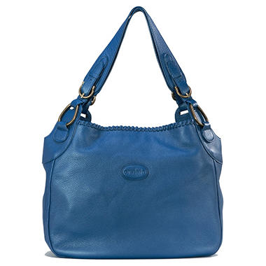 Orvieto by Estel Park Petite Brise Ultra Marine Leather Handbag