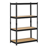 Edsal Heavy-Duty Black Steel 4-Shelf Shelving Unit