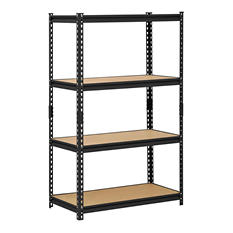 "Edsal 4-Shelf Steel Shelving Unit - 60""H x 36""W x 18""D"