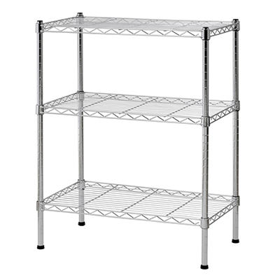 Sandusky 3-Tier Chrome Wire Shelving System