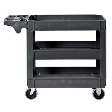 Sandusky 3-Shelf Plastic Utility Cart with 5