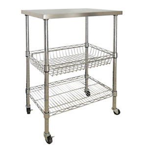 Sandusky 3-Shelf Stainless Steel Storage Cart