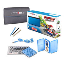 3DS XL Blue with Mario Kart 7 and Starter Kit