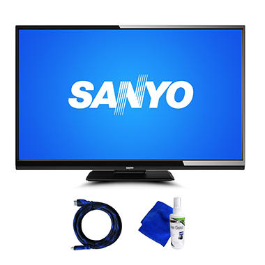 "46"" Sanyo LED 1080p HDTV w/ 8' HDMI Cable and Cleaning Kit"
