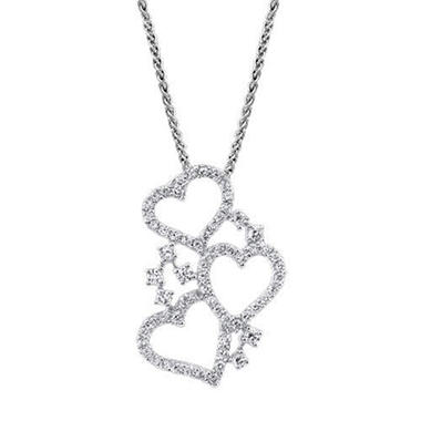.80 ct. t.w. Diamond 3-Heart Pendant (I, I1)