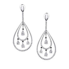 2.12 ct. t.w. Pear Drop Diamond Earrings (H-I, I1)
