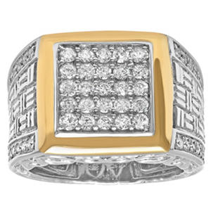 1.01 ct. t.w. Two-Tone Gents Diamond Ring (I, I1)