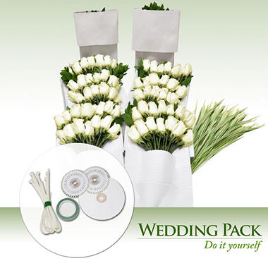 Do It Yourself Celebrations - White Roses - 200 Stems