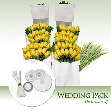 Do It Yourself Celebrations - Yellow Roses - 200 Stems