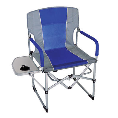 CampSmart® Portable Director's Chair - Blue and Gray