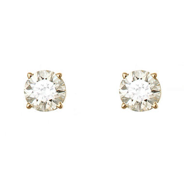 0.47 CT.T.W. Round-Cut Diamond Stud Earrings in 14K Yellow Gold (H-I, SI2)