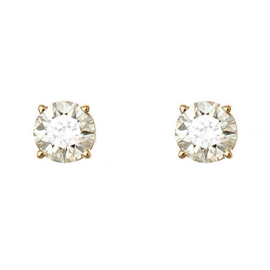 1.45 CT.T.W. Round-Cut Diamond Stud Earrings in 14K Yellow Gold (I, I1)