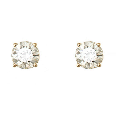 0.72 CT.T.W. Round-Cut Diamond Stud Earrings in 14K Yellow Gold (I, I1)