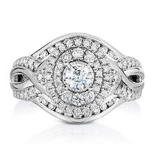 0.95 ct. t.w. Regal Engagement Ring in 14K White Gold