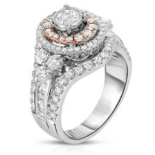 1.95 CT. T.W. Regal Engagement Ring in 14K Two-Tone Gold