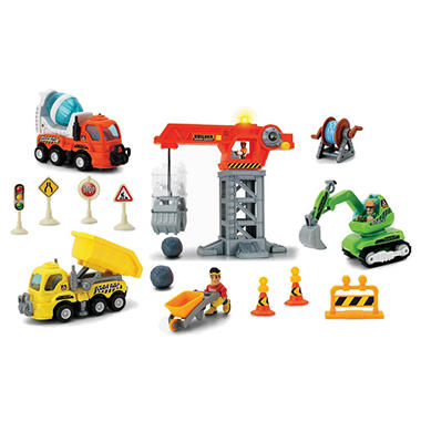 Pre-School Play Set - Giant Crane Construction Site