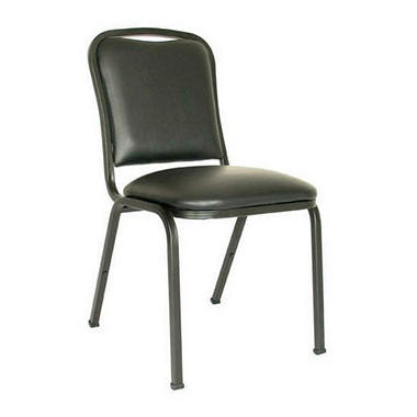 MGI - Commercial Vinyl Stacking Chair, Black - 32 Pack