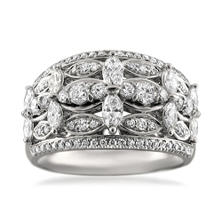 Christopher Designs 1.25 CT. TW. Round Diamond Engagement Ring in 14K White Gold (I, I1)